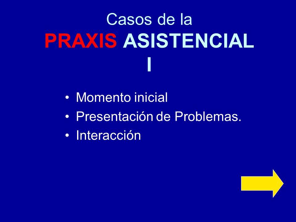 Casos de la PRAXIS ASISTENCIAL I
