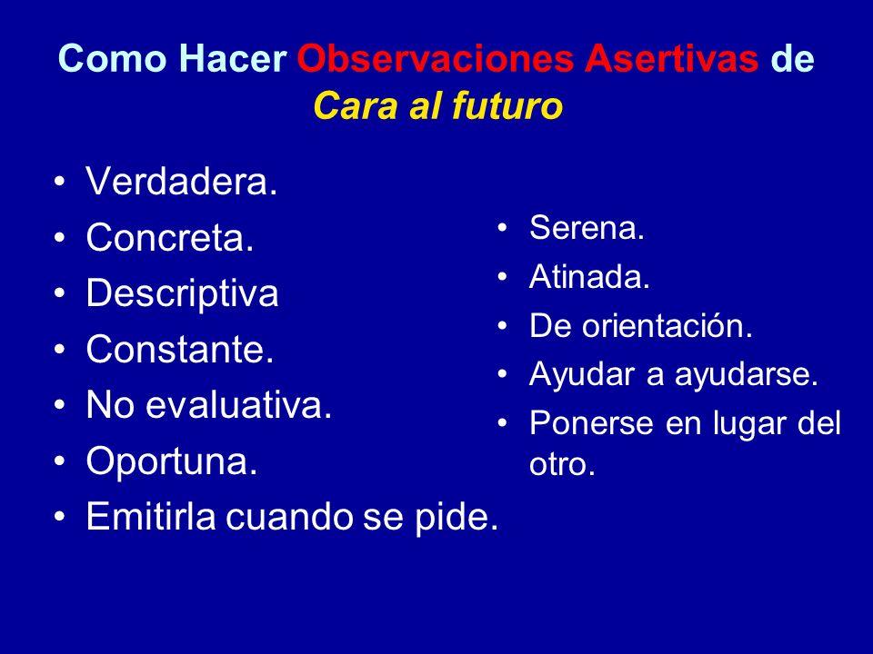 Como Hacer Observaciones Asertivas de Cara al futuro