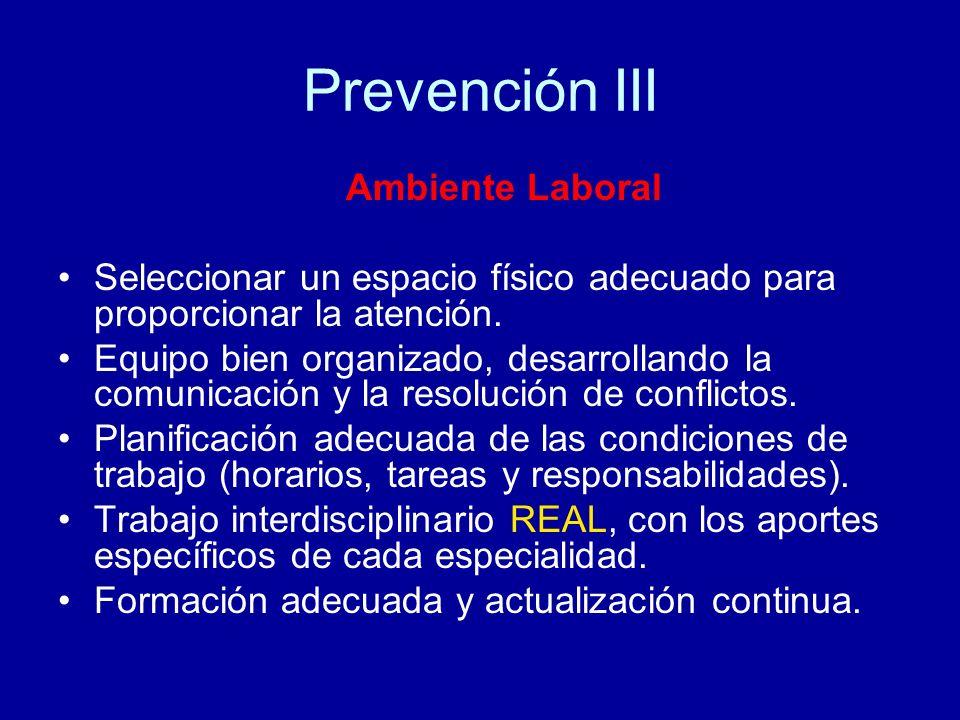 Prevención III Ambiente Laboral