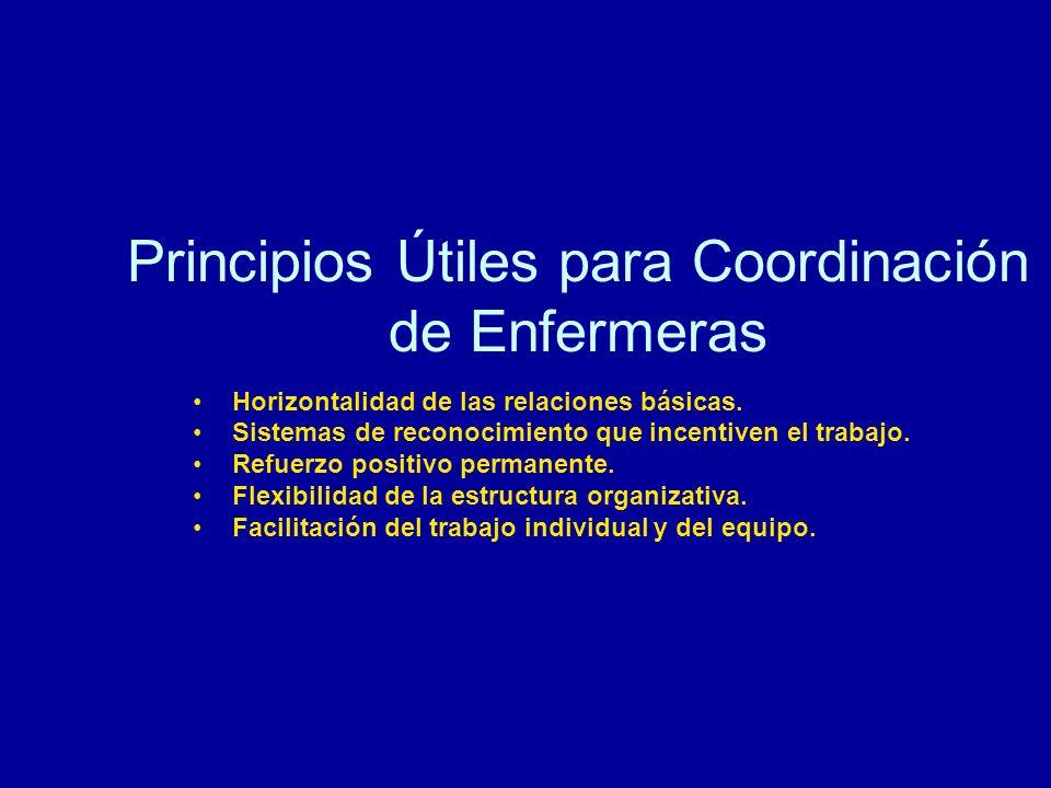 Principios Útiles para Coordinación de Enfermeras