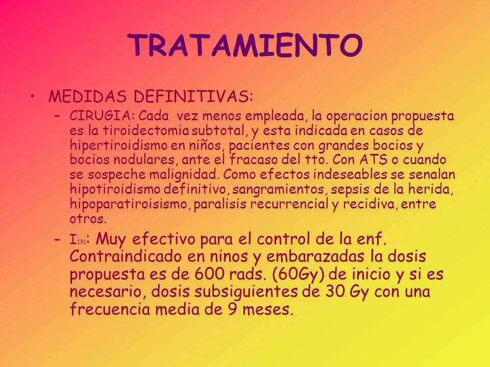 TRATAMIENTO MEDIDAS DEFINITIVAS: