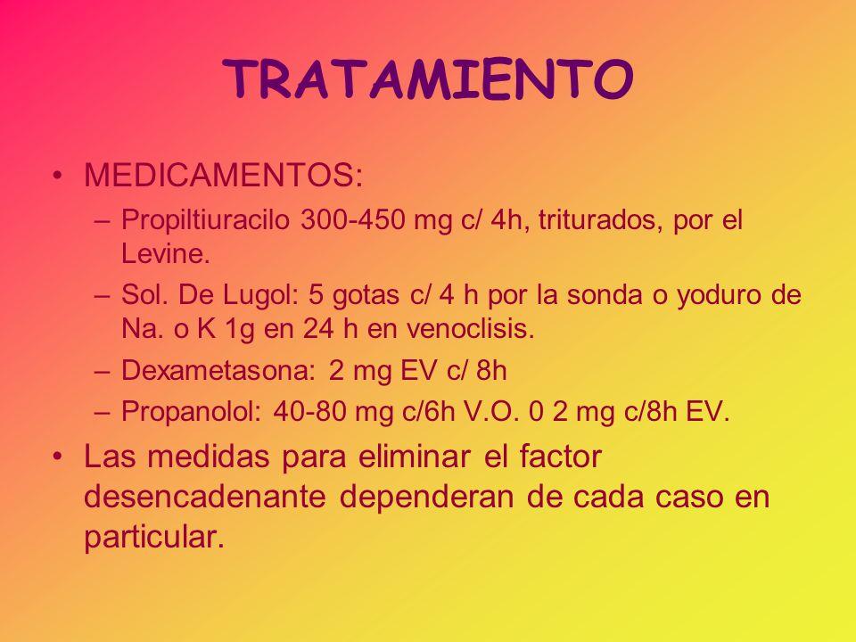 TRATAMIENTO MEDICAMENTOS: