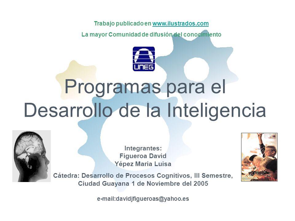Programas para el Desarrollo de la Inteligencia