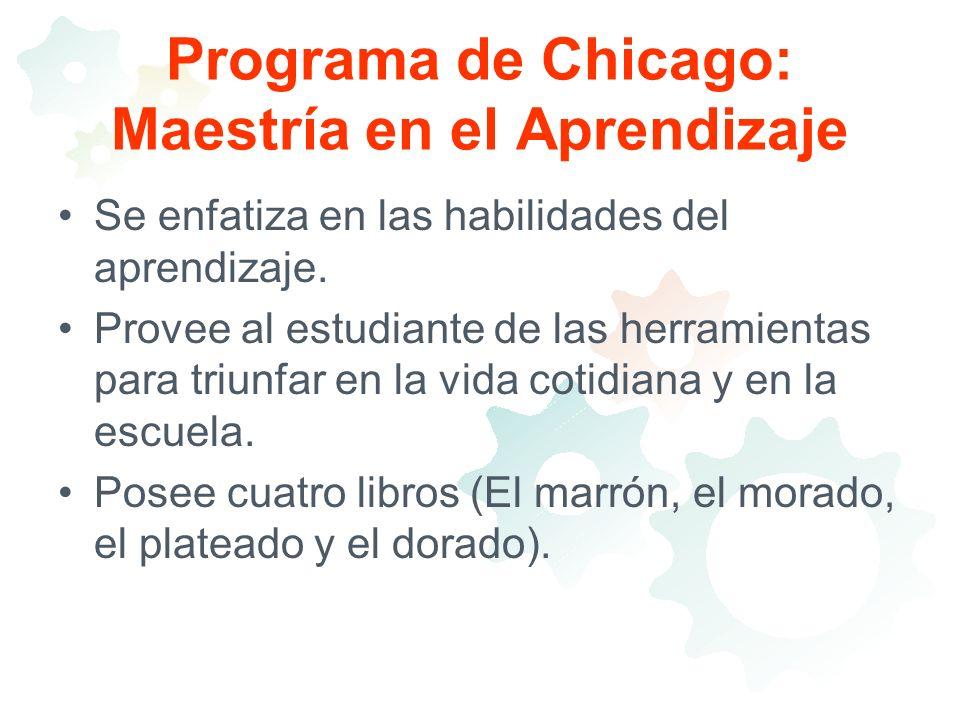 Programa de Chicago: Maestría en el Aprendizaje