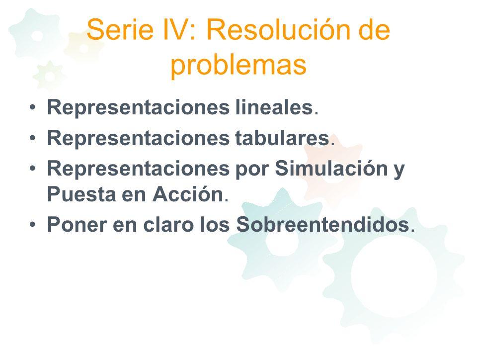 Serie IV: Resolución de problemas