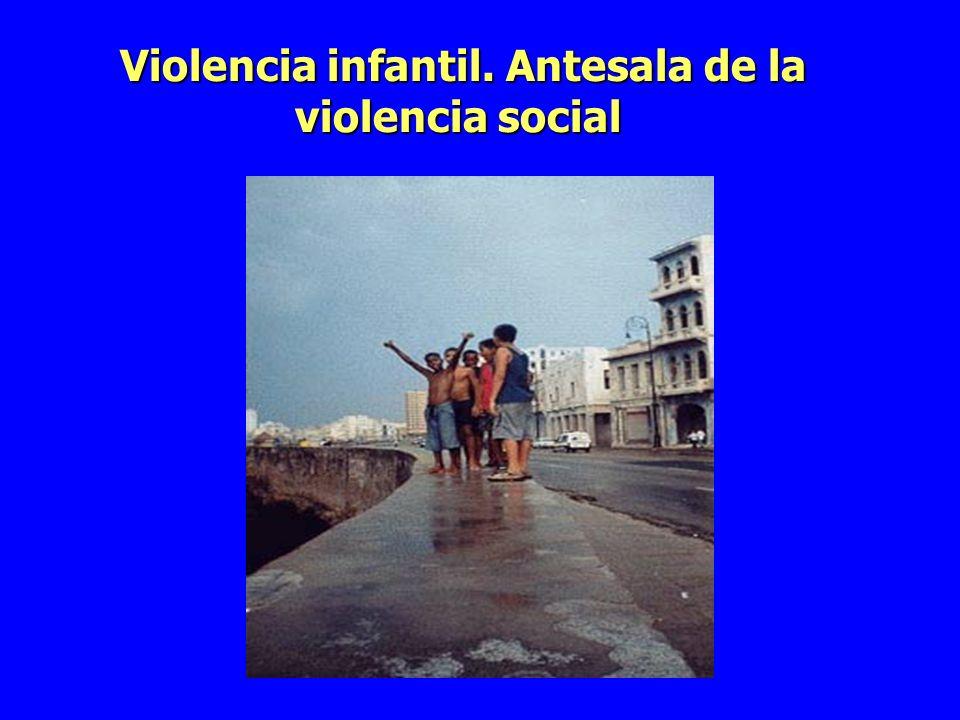 Violencia infantil. Antesala de la violencia social