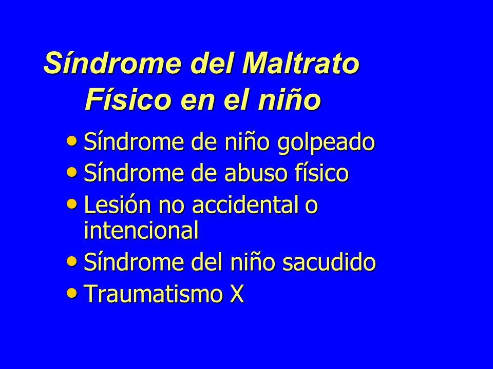 Síndrome del Maltrato Físico en el niño