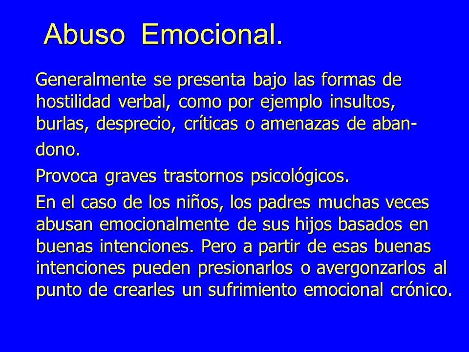 Abuso Emocional.