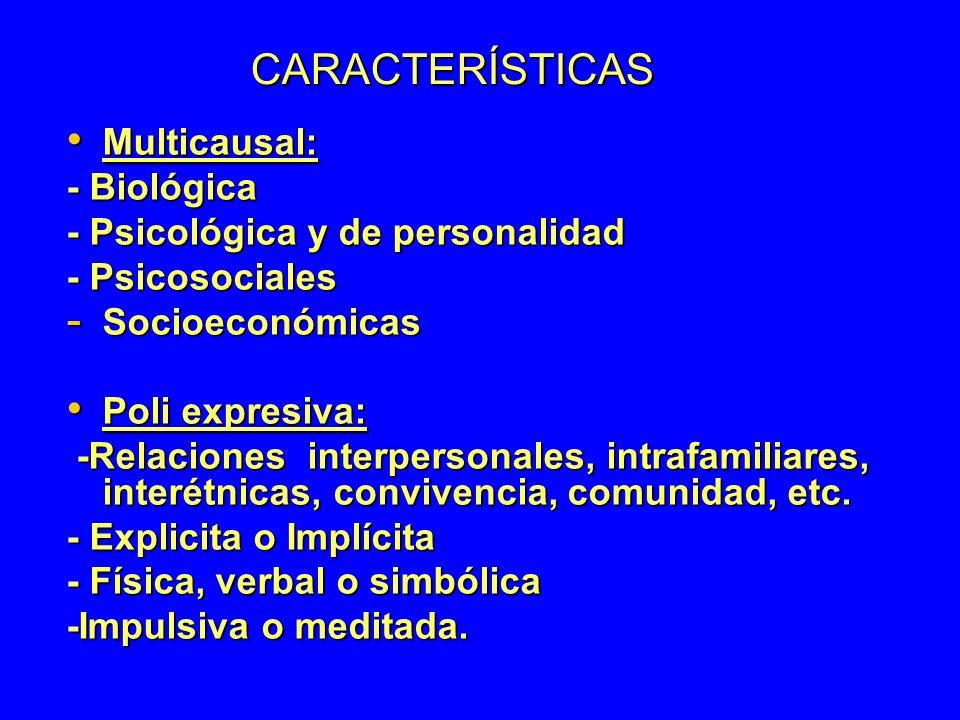 CARACTERÍSTICAS Multicausal: - Biológica