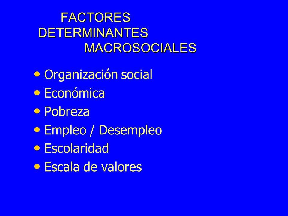 FACTORES DETERMINANTES MACROSOCIALES