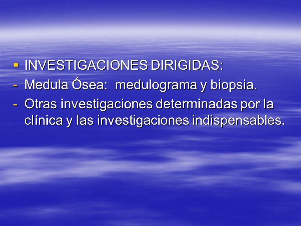 INVESTIGACIONES DIRIGIDAS: