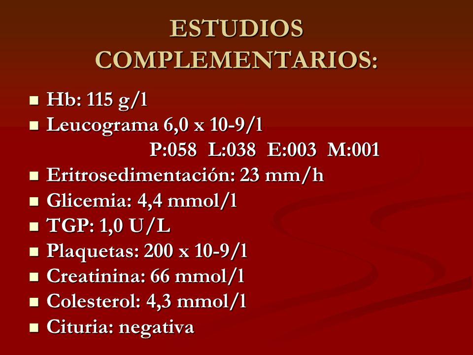ESTUDIOS COMPLEMENTARIOS: