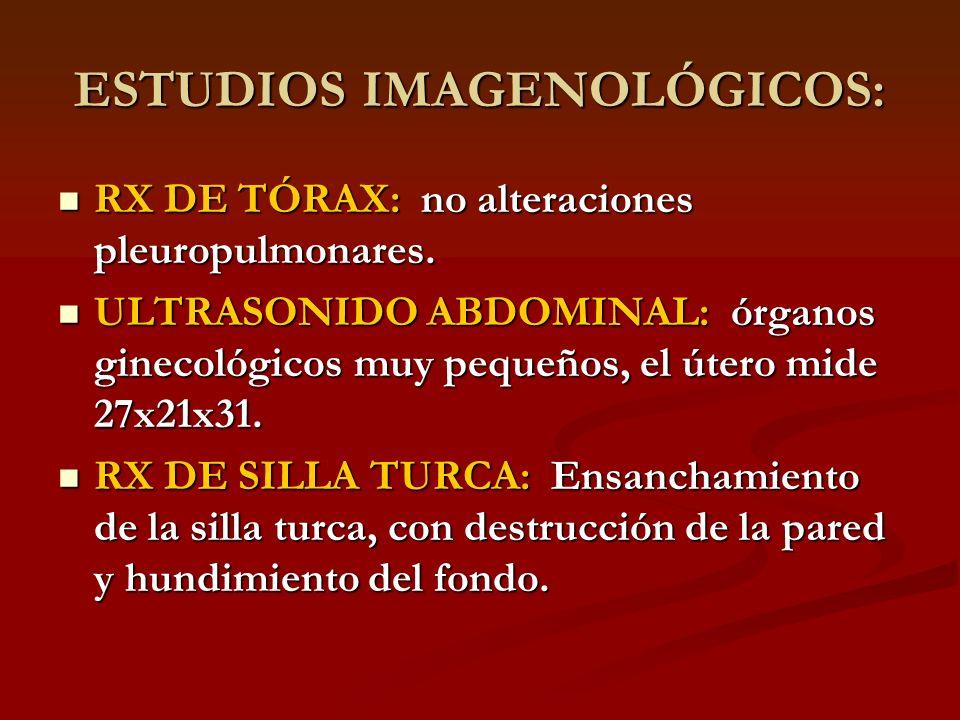 ESTUDIOS IMAGENOLÓGICOS: