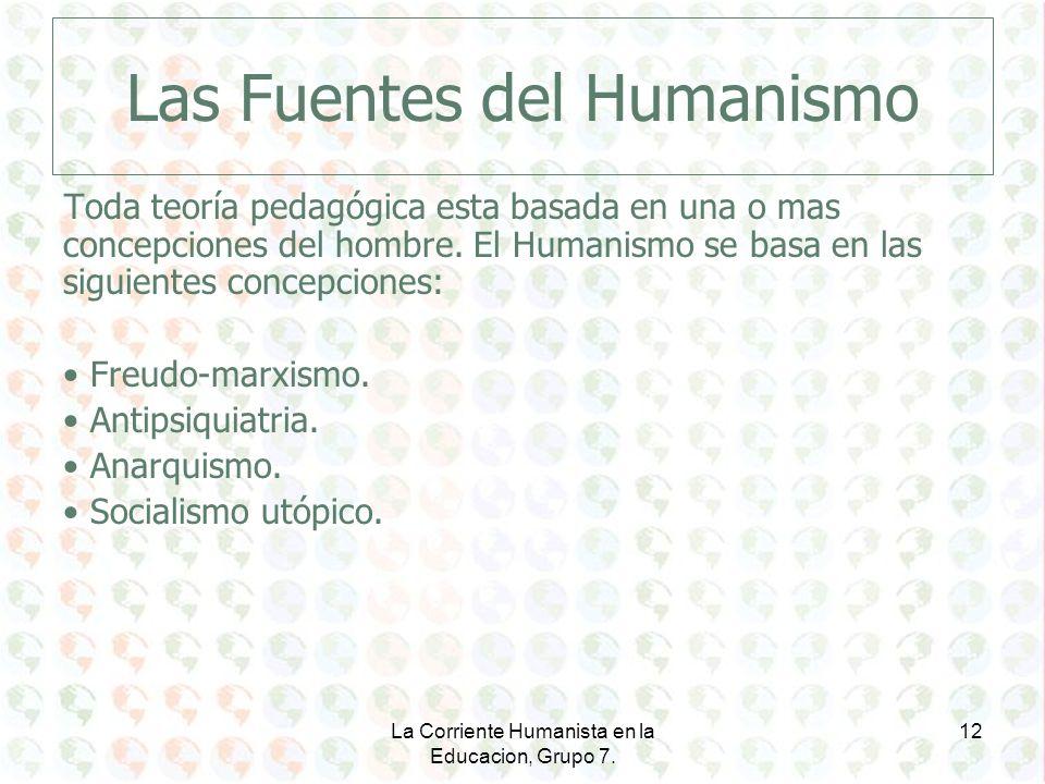 Las Fuentes del Humanismo