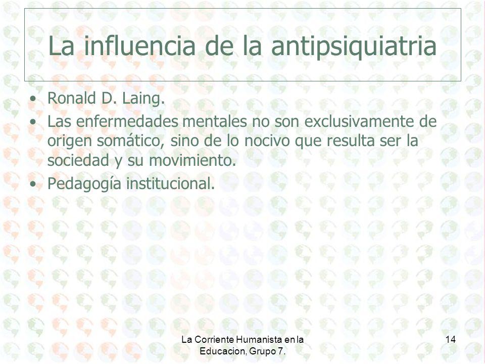 La influencia de la antipsiquiatria