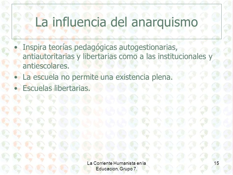 La influencia del anarquismo