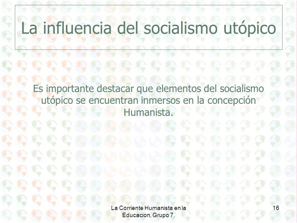 La influencia del socialismo utópico