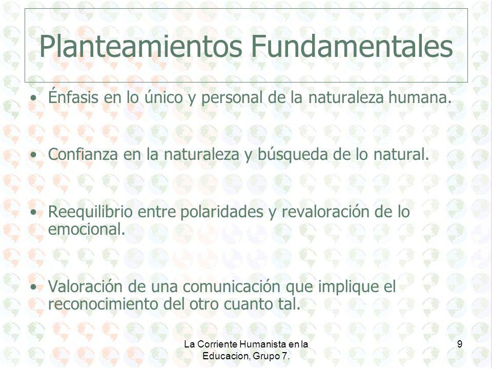 Planteamientos Fundamentales