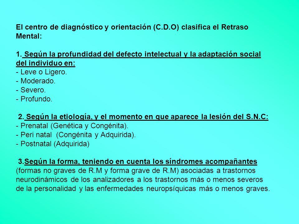 El centro de diagnóstico y orientación (C. D