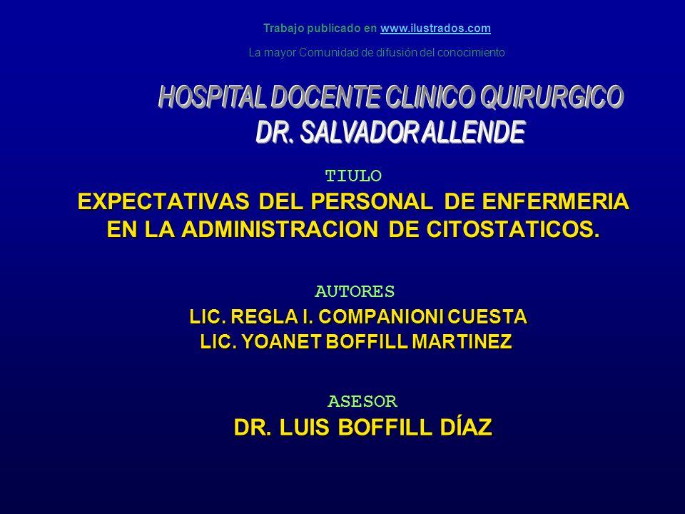 AUTORES LIC. REGLA I. COMPANIONI CUESTA LIC. YOANET BOFFILL MARTINEZ