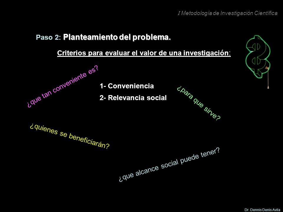 Paso 2: Planteamiento del problema.