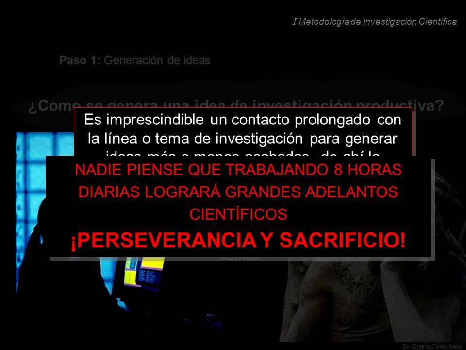 ¡PERSEVERANCIA Y SACRIFICIO!