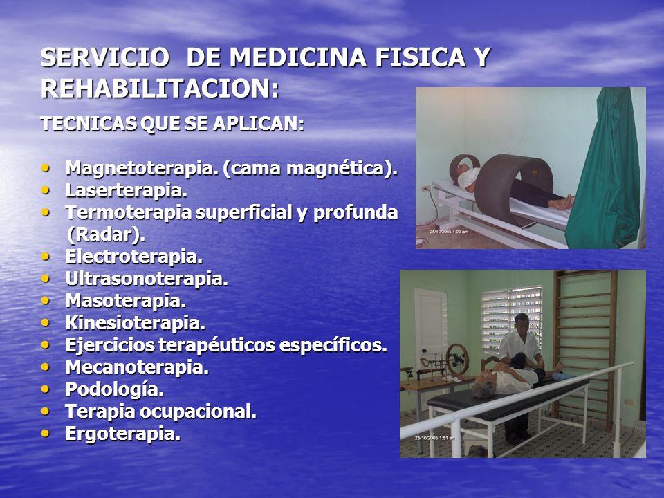 SERVICIO DE MEDICINA FISICA Y REHABILITACION: