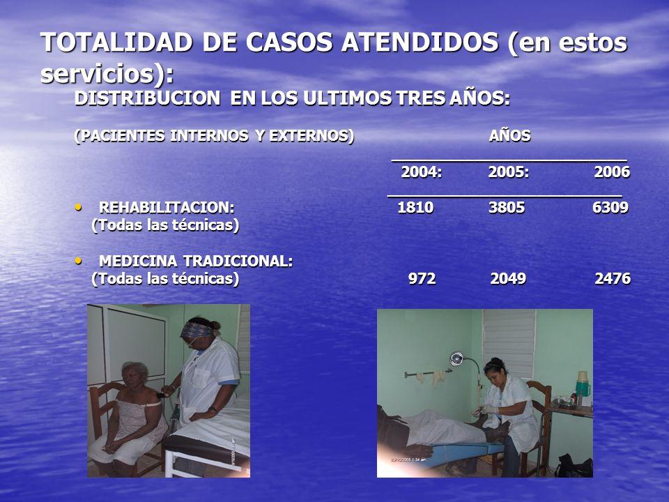 TOTALIDAD DE CASOS ATENDIDOS (en estos servicios):