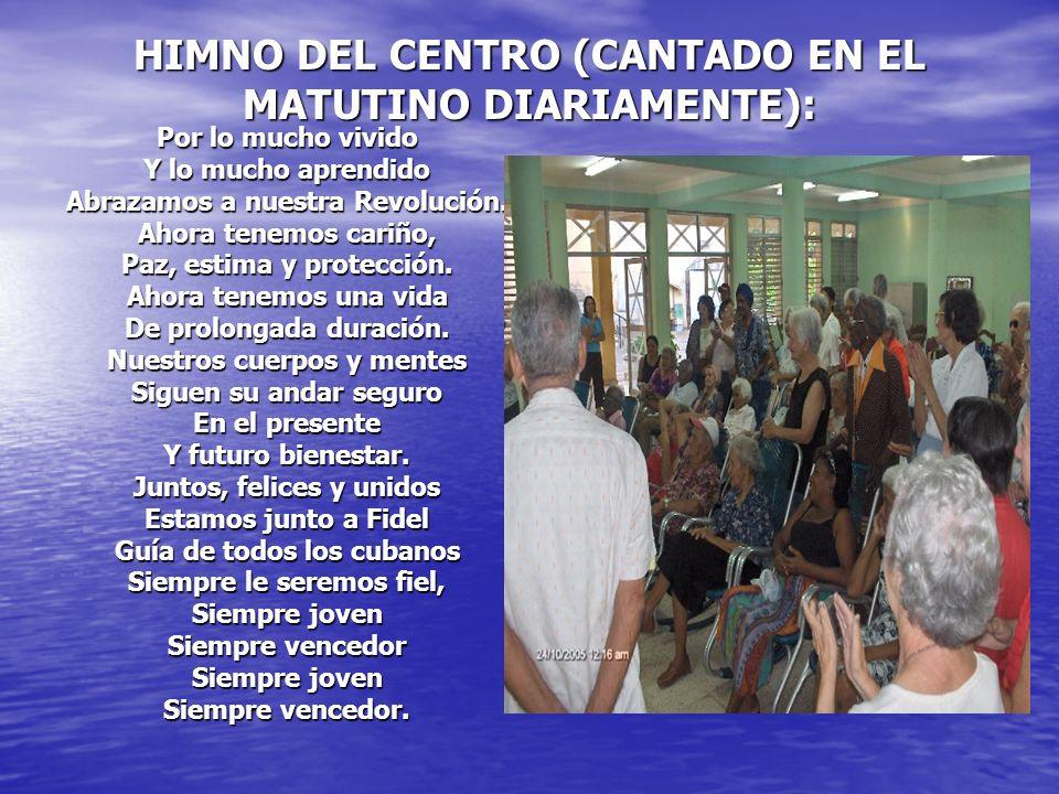 HIMNO DEL CENTRO (CANTADO EN EL MATUTINO DIARIAMENTE):