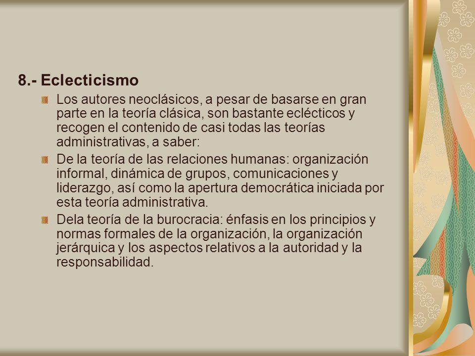 8.- Eclecticismo