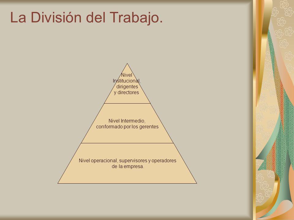 La División del Trabajo.