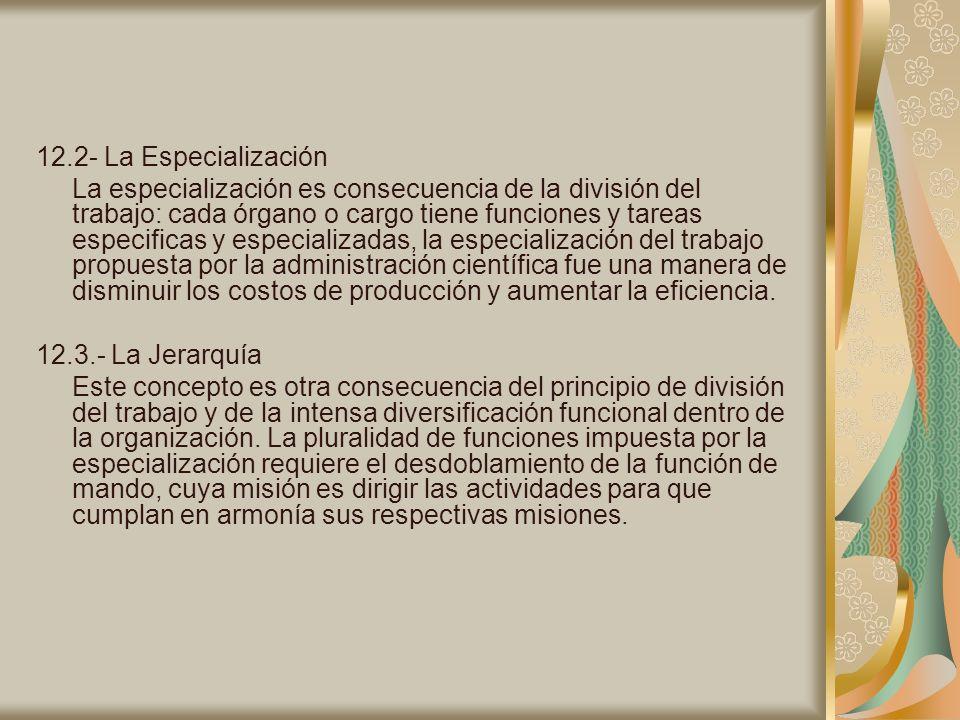 12.2- La Especialización