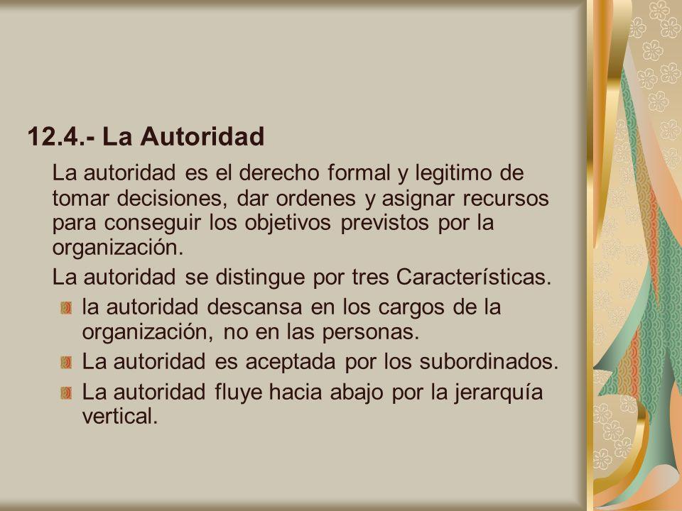 12.4.- La Autoridad