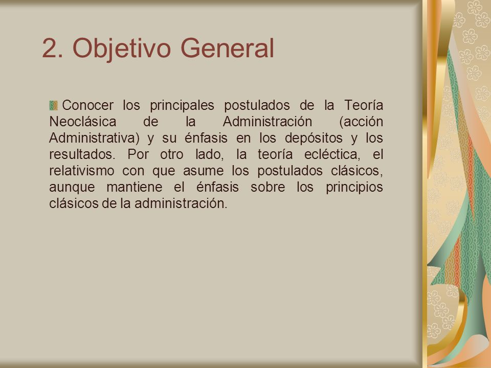 2. Objetivo General