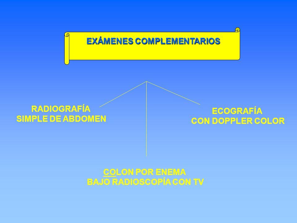 EXÁMENES COMPLEMENTARIOS BAJO RADIOSCOPÍA CON TV
