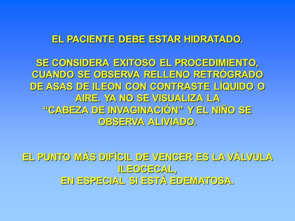 EL PACIENTE DEBE ESTAR HIDRATADO.