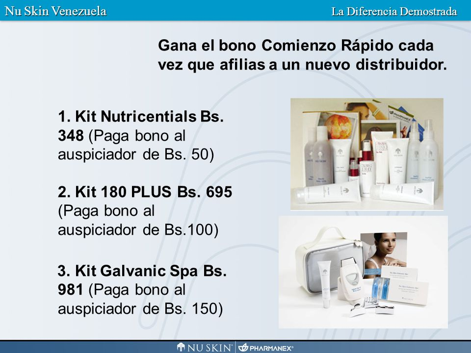 3. Kit Galvanic Spa Bs. 981 (Paga bono al auspiciador de Bs. 150)