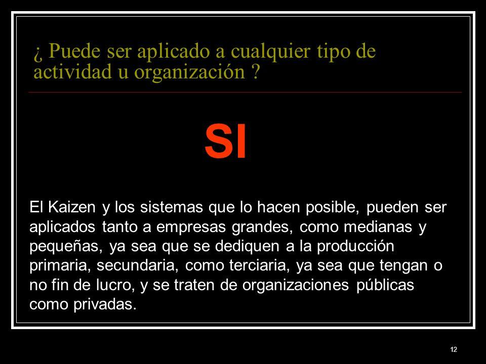 ¿ Puede ser aplicado a cualquier tipo de actividad u organización