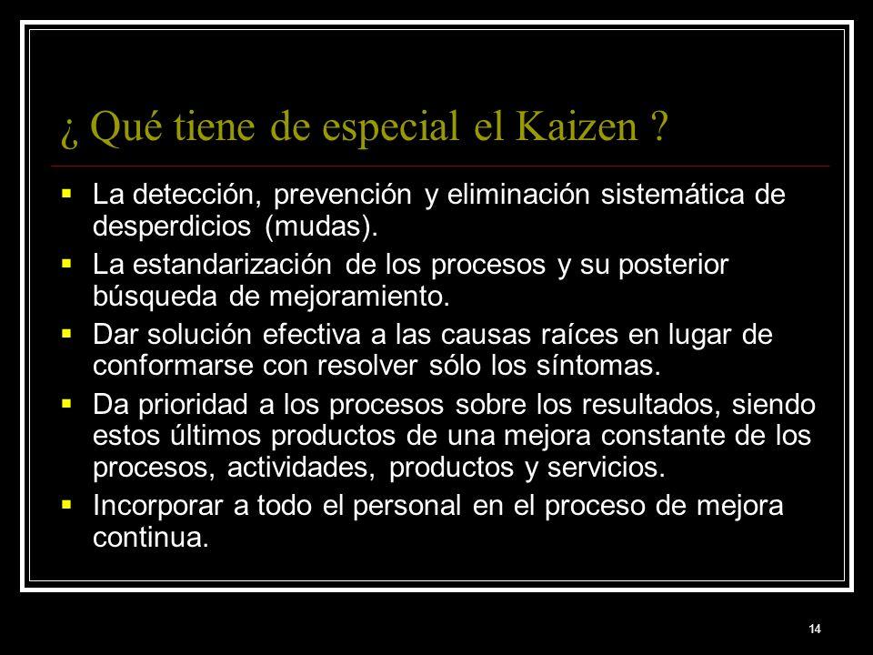 ¿ Qué tiene de especial el Kaizen