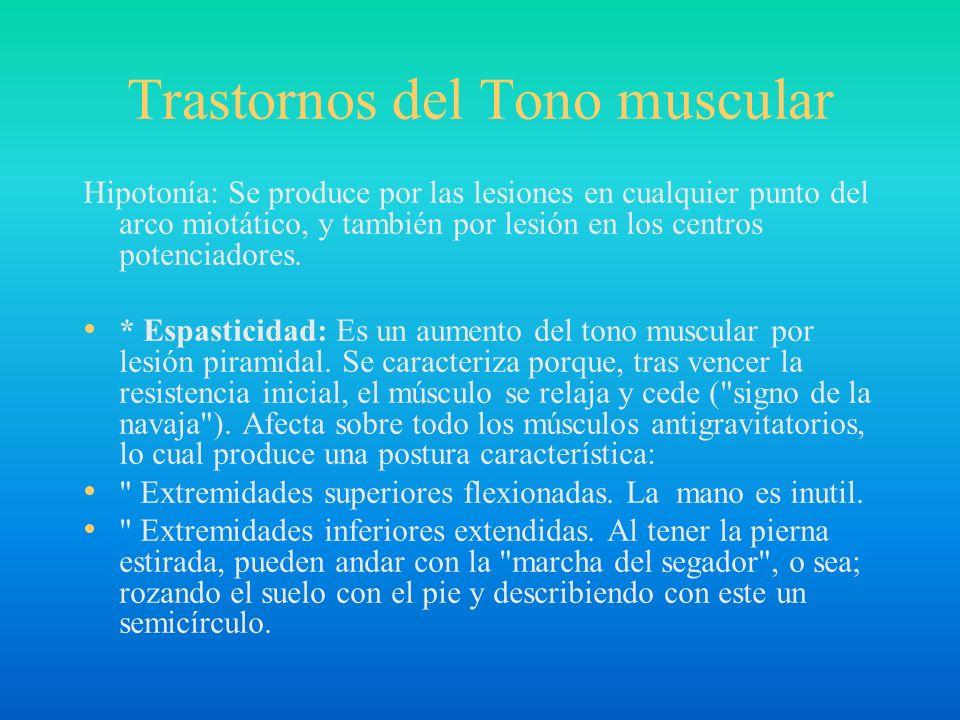 Trastornos del Tono muscular