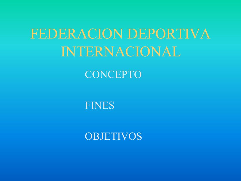 FEDERACION DEPORTIVA INTERNACIONAL