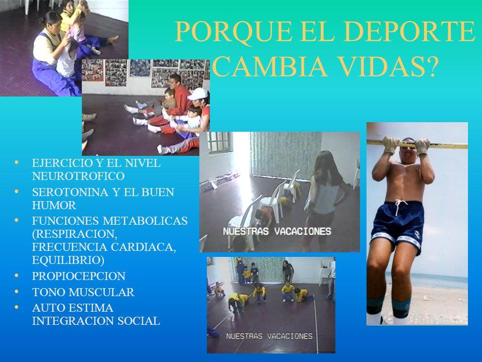 PORQUE EL DEPORTE CAMBIA VIDAS
