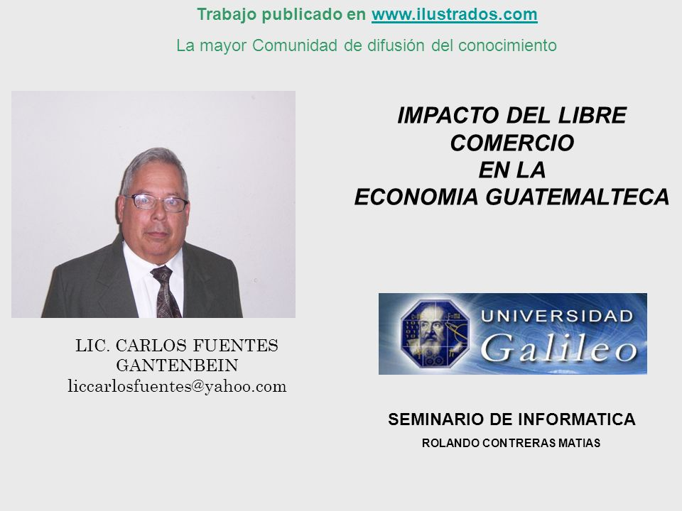 IMPACTO DEL LIBRE COMERCIO ECONOMIA GUATEMALTECA