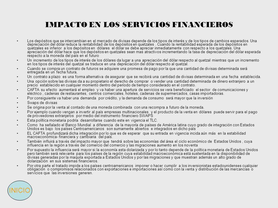 IMPACTO EN LOS SERVICIOS FINANCIEROS