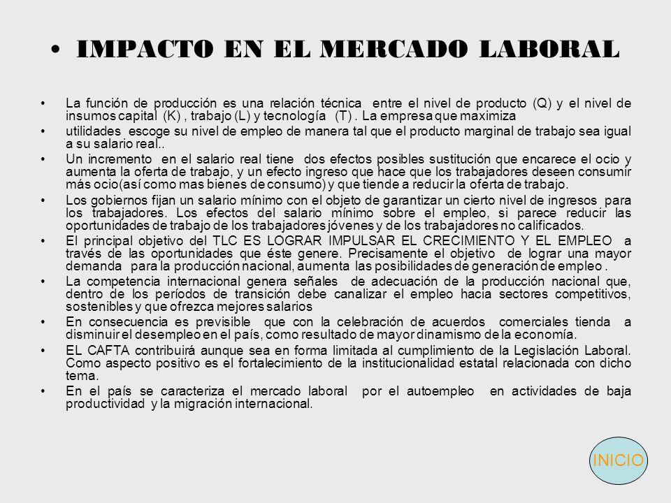 IMPACTO EN EL MERCADO LABORAL