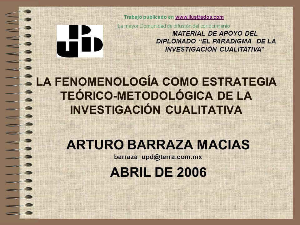 ARTURO BARRAZA MACIAS barraza_upd@terra.com.mx ABRIL DE 2006