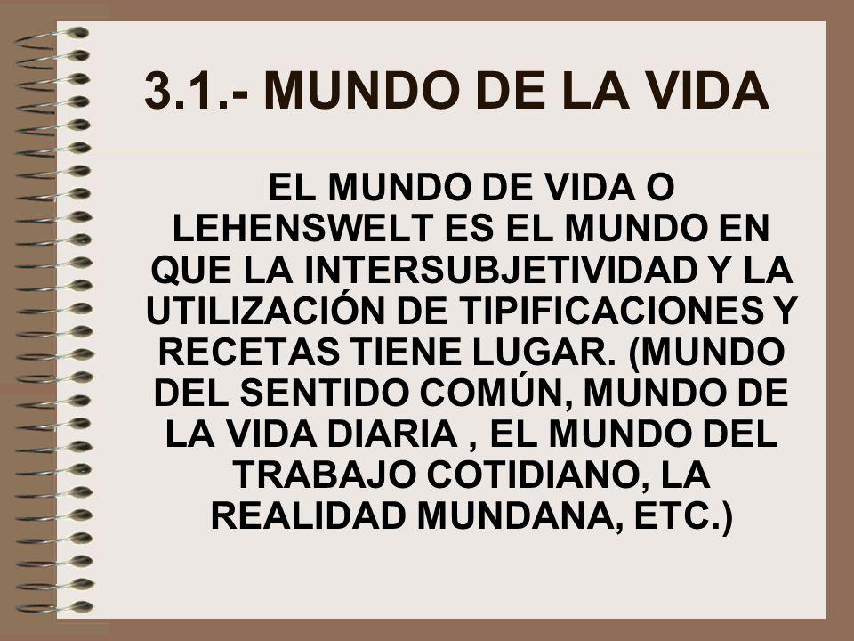 3.1.- MUNDO DE LA VIDA
