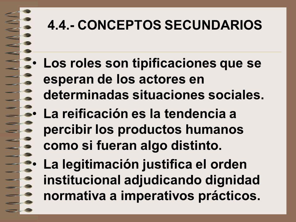 4.4.- CONCEPTOS SECUNDARIOS