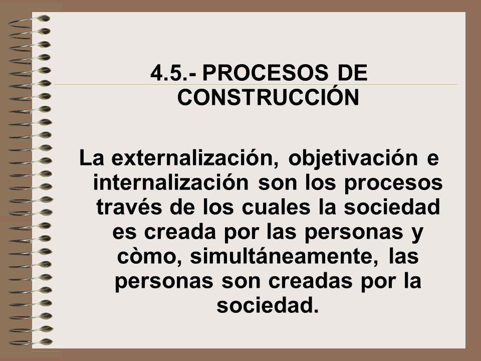 4.5.- PROCESOS DE CONSTRUCCIÓN
