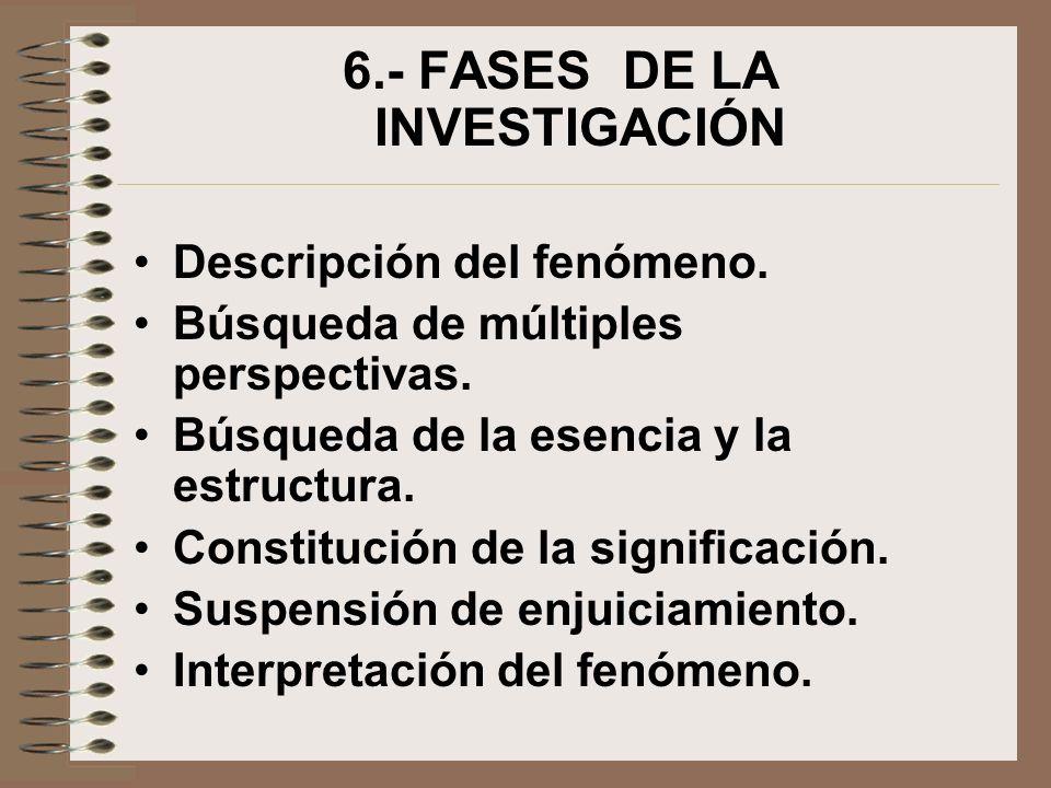 6.- FASES DE LA INVESTIGACIÓN